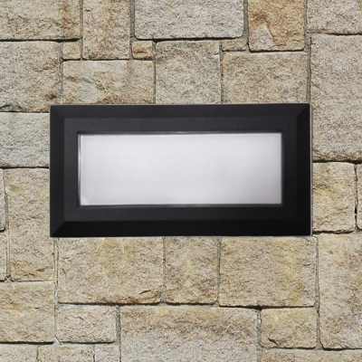 Lampada per esterno a parete bronson led 23 x 10 cm ip44 for Lampade esterno led leroy merlin