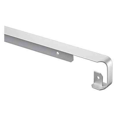 Profilo di giunzione alluminio grigio spazzolato l 67 cm for Profilo alluminio led leroy merlin