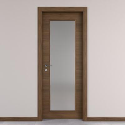 Porta da interno battente Stenophylla vetro cacao 80 x H 210 cm ...