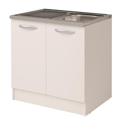 Base per lavello spring 2 ante bianco l 80 x h 86 x p 60 cm prezzi e offerte online leroy merlin - Base per lavello cucina ...