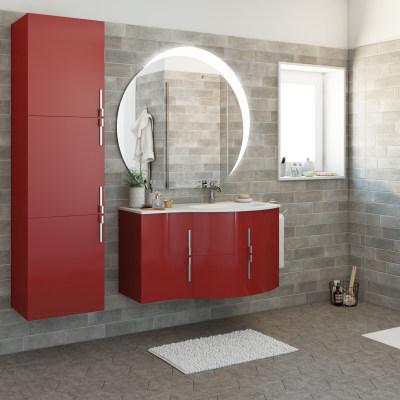 Mobile bagno sting rosso l 104 cm prezzi e offerte online for Arredo bagno rosso