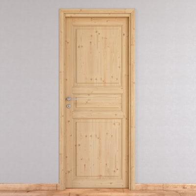 Porta da interno battente Beethoven grezza 90 x H 210 cm reversibile ...