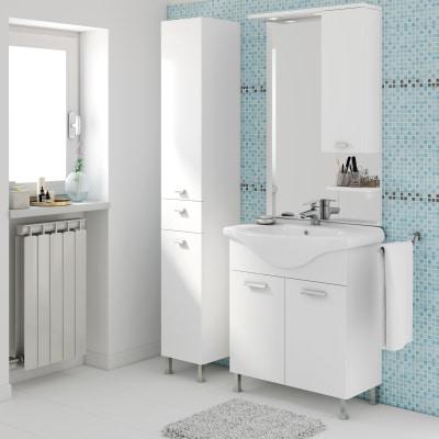 Mobile bagno rimini bianco l 75 cm prezzi e offerte online for Mobili bagno offerte on line