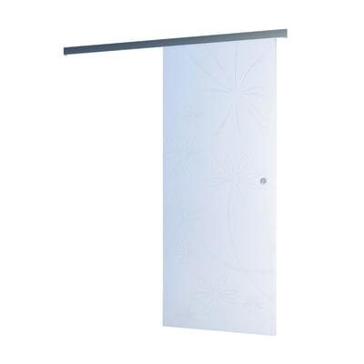 Porta da interno scorrevole Diana binario Alu bianco 86 x H 215 cm ...