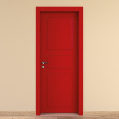 Porta da interno battente new york rosso 60 x h 210 cm dx for Porta pellet da interno