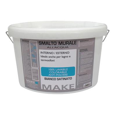 Smalto murale bianco satinato Make 4 L prezzi e offerte ...