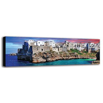 Quadro su tela polignano a mare 40x125 prezzi e offerte for Quadri moderni leroy merlin
