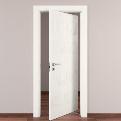 Porta da interno rototraslante fence bianco 80 x h 210 cm dx prezzi e offerte online leroy merlin - Porta rototraslante prezzi ...