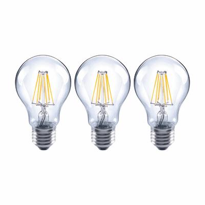 3 lampadine led lexman filamento e27 60w goccia luce for Lampadine led lexman