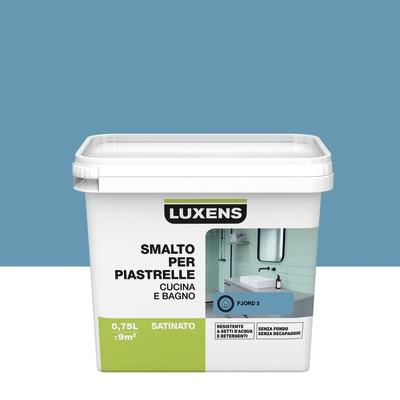 Smalto Per piastrelle Luxens Blu Fjord 3 satinato 0,75 L prezzi e ...