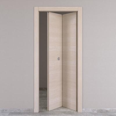 Porta da interno pieghevole grain rovere grano 80 x h 210 cm dx prezzi e offerte online leroy - Porta pieghevole ...