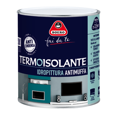 Idropittura antimuffa termoisolante bianca boero 0 75 l for Antimuffa leroy merlin