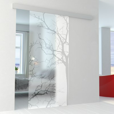 Porta da interno scorrevole autumn binario alu 76 x h 215 for Porte in vetro leroy merlin