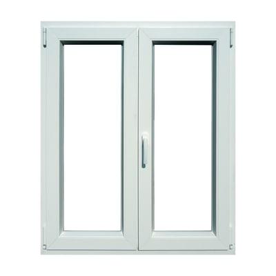 Finestra pvc bianco l 100 x h 120 cm prezzi e offerte - Stock finestre pvc ...