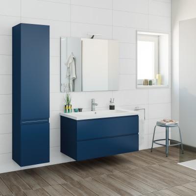 mobile bagno gola blu navy l 95 cm prezzi e offerte online ForMobile Bagno Blu
