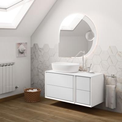 Mobile bagno Devon bianco L 105 cm prezzi e offerte online | Leroy ...
