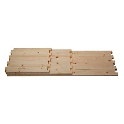 Tavola lamellare coda di rondine legno l 30 x p 60 cm grezzo 2 pezzi prezzi e offerte online - Tavole legno grezzo leroy merlin ...
