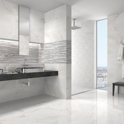 Piastrella marmo 24 x 69 cm bianco prezzi e offerte online for Gres porcellanato leroy merlin