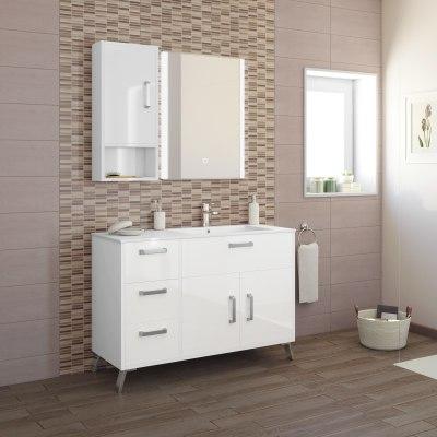 Mobile bagno Brae bianco L 116,5 cm prezzi e offerte online | Leroy ...