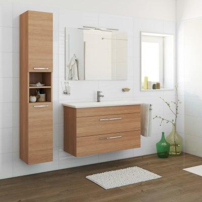 Mobile bagno gi olmo l 105 cm prezzi e offerte online for Mobile bagno doppio lavabo leroy merlin
