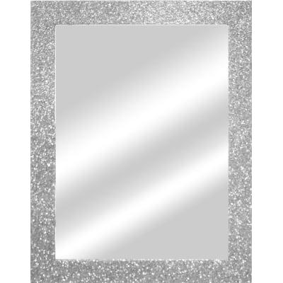 Specchio da parete rettangolare glitterata argento 66 5 x for Specchio da parete argento