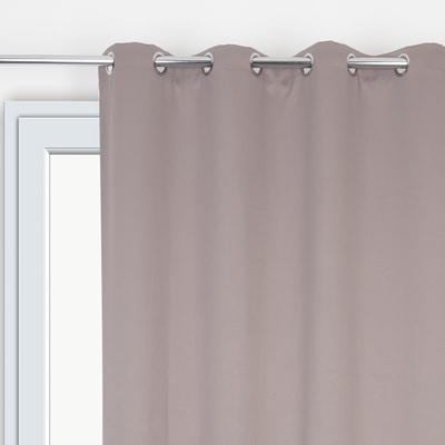 Tenda ultra oscurante con occhielli grigio 135 x 280 cm prezzi e offerte online leroy merlin - Oscurare vetro porta ...