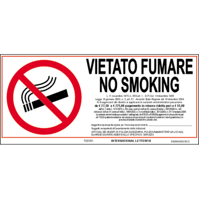 Targa vietato fumare prezzi e offerte online leroy merlin for Numeri adesivi leroy merlin
