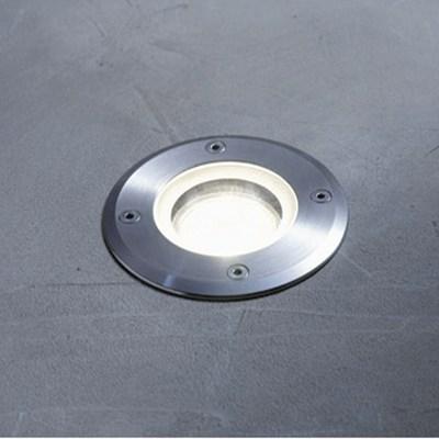 Faretti Da Esterno Incasso.Faretto Da Incasso Da Esterno Atlanta In Alluminio Inox Diam 11 Cm 11x15cm Gu10 Ip67 Inspire