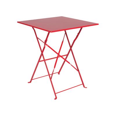 Tavolo Giardino Ferro Pieghevole.Tavolo Da Giardino Quadrata Color Con Piano In Ferro L 60 X P 60