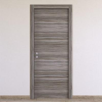 Porta a battente Cover palissandro grigio L 60 x H 210 cm reversibile
