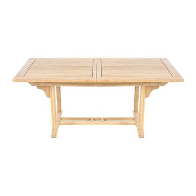 Tavolo Da Pranzo Allungabile Piano Legno.Tavolo Da Giardino Allungabile Con Piano In Legno L 170 X P 100 Cm