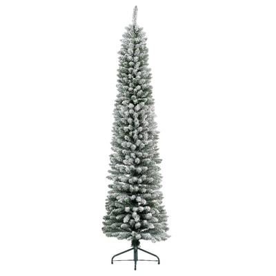Albero Di Natale Slim.Albero Di Natale Artificiale Slim Innevato Bianco H 180 Cm Prezzo Online Leroy Merlin
