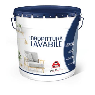 Pittura murale bianca boero 14 l bianco prezzi e offerte for Pittura lavabile prezzi leroy merlin