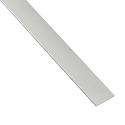 Profilo piatto standers in alluminio 2 6 m x 1 cm grigio for Profilo alluminio led leroy merlin