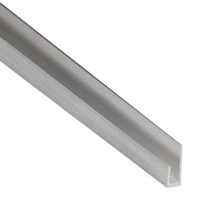 Profilo cimasa standers in alluminio 1 m x 1 8 cm prezzi e for Profilo alluminio led leroy merlin