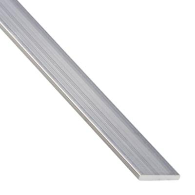 Profilo piatto standers in alluminio 1 m x 1 cm prezzi e for Profilo alluminio led leroy merlin