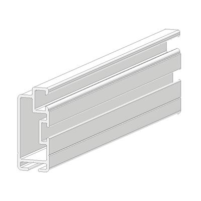 Profilo sistema in alluminio 2 5 m x 2 5 cm bianco prezzi for Profilo alluminio led leroy merlin