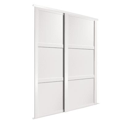 Kit 2 ante Memphis laminato bianco L 180 x H 270 cm