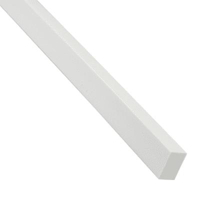 Tubo rettangolare pieno 20 x 10 mm x 1 m