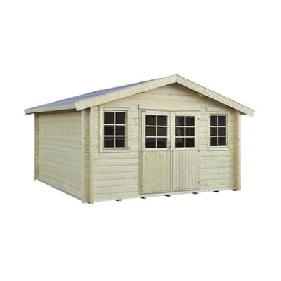 casetta in legno grezzo Kuttura 13,03 m², spessore 44 mm