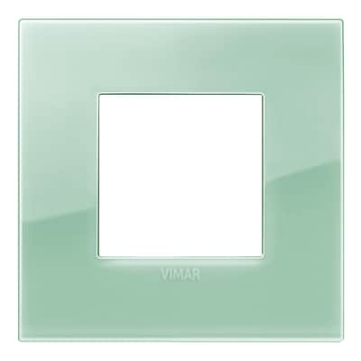 Placca 2 moduli Vimar Arké reflex salvia