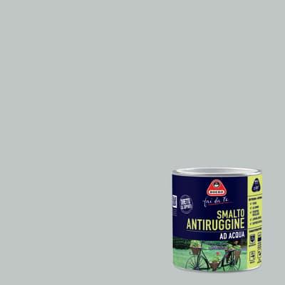 Smalto per ferro antiruggine grigio chiaro satinato 0,5 L