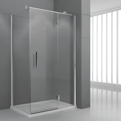Porta doccia battente modulo 116 5 119 5 h 195 cm for Porta doccia leroy merlin