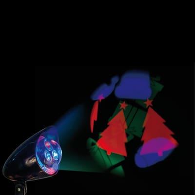 Proiettore 3 Led multicolore L 15 x P 10 x H 19 cm
