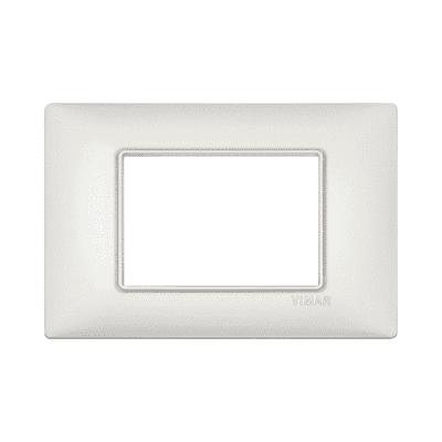 Placca 3 moduli Vimar Plana argento perlato