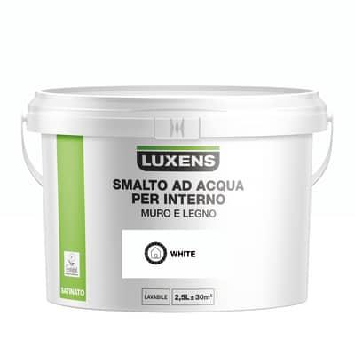 Smalto Luxens all'acqua Bianco satinato 2.5 L