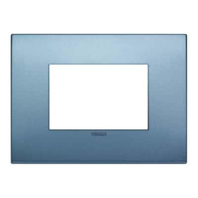 Placca 3 moduli Vimar Arké blu matt