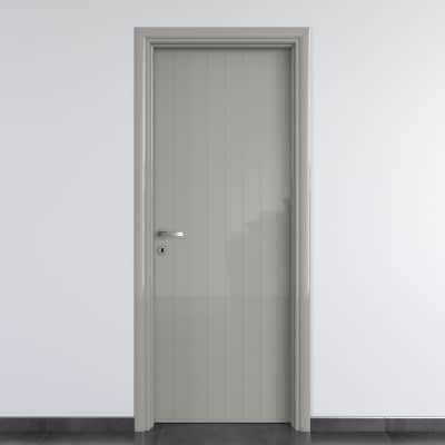 Porta da interno battente Pvc grey grigio 60 x H 210 cm dx