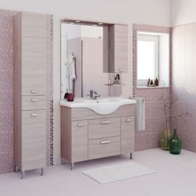 Mobile bagno rimini larice l 105 cm prezzi e offerte for Offerta mobili bagno