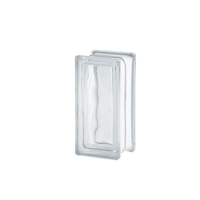 Vetromattone bianco ondulato 9 x 19 x 8 cm